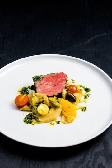 Rezept Roastbeef Sous Vide mit warmen Fenchel Salat