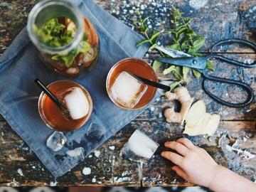 Rezept Roibos-Eistee mit Ingwer und Minze