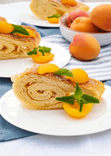 Rezept Roly-Poly mit Aprikosenmarmelade