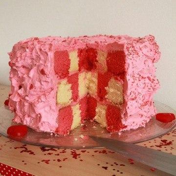 Rezept Rosa Domino-Torte
