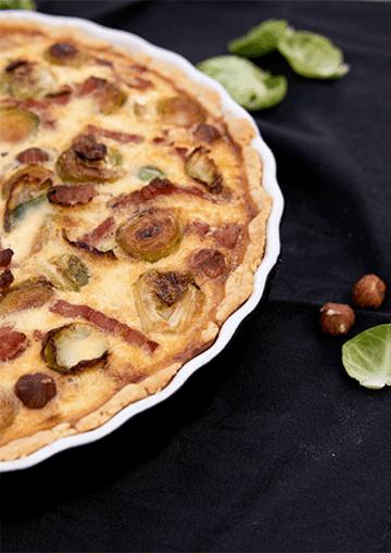 Rezept Rosenkohl-Haselnuss-Quiche mit Apfel