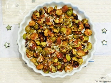Rezept Rosenkohl in Balsamico-Parmesan Marinade geröstet