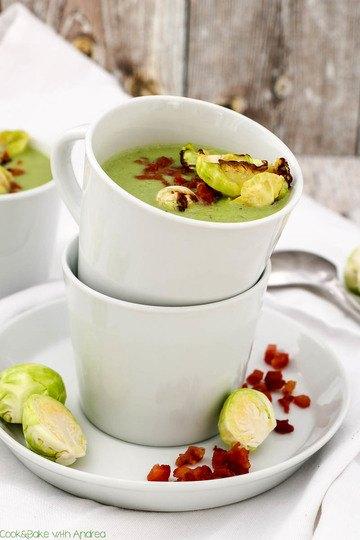Rezept Rosenkohlsuppe mit krossen Speckwürfeln