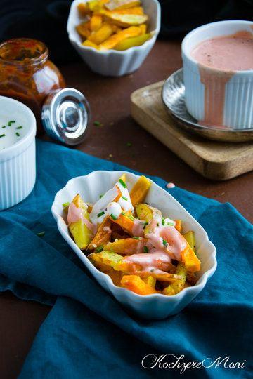 Rezept Rosmarin- und Süßkartoffelpommes mit zweierlei Toppings