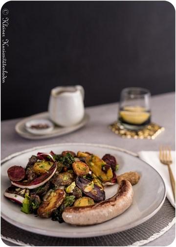 Rezept Röstkartoffelsalat mit Flower Sprouts und Radicchio