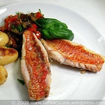 Rezept Rotbarbe mit mediterranem Gemüse