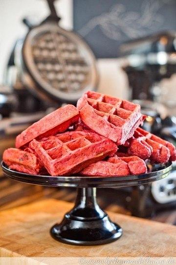Rezept Rote Beete-Speck-Waffeln