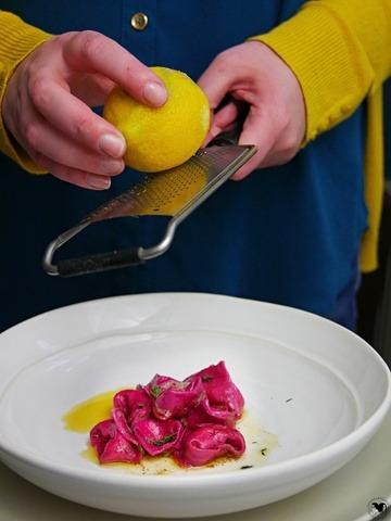 Rezept Rote Beete Tortelini mit brauner Butter