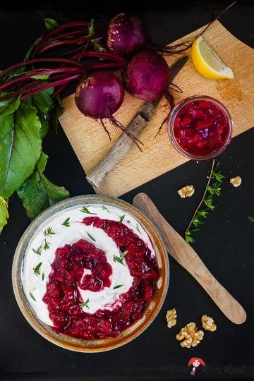 Rezept Rote Bete-Chutney mit Ziegenkäse-Walnuss-Creme