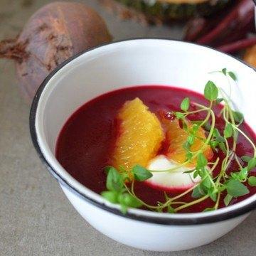 Rezept Rote-Bete-Orangen-Suppe