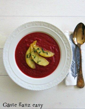 Rezept Rote Bete Suppe mit Ingwer und Birne