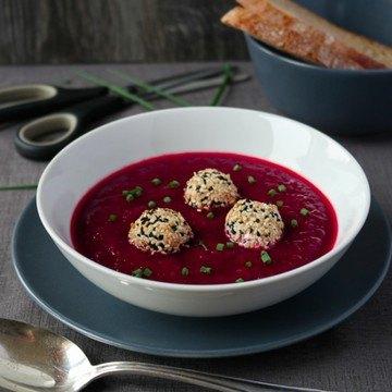 Rezept Rote-Bete-Suppe mit Ziegenkäse