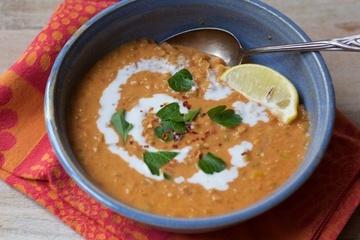 Rezept Rote Linsensuppe mit Kokosmilch und Curry