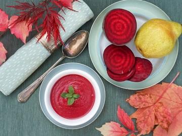 Rezept Rote Rüben Suppe mit Birne