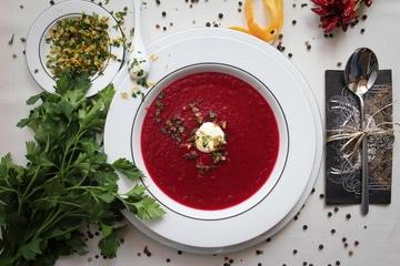 Rezept Rote-Rüben-Suppe mit Orangen-Gremolata