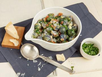 Rezept Roter Rosenkohl mit Speck und Parmesan