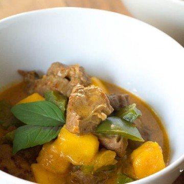 Rezept Rotes Schweinefleisch Curry mit Mango