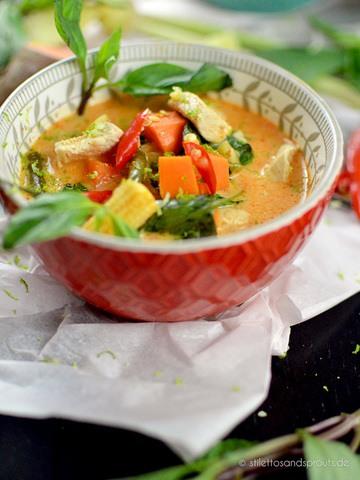Rezept Rotes Thai Curry mit Süßkartoffeln