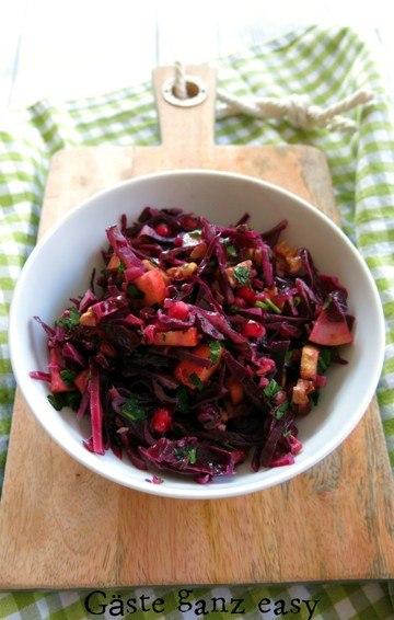Rezept Rotkohlsalat mit Granatapfel