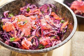 Rezept Rotkohlsalat mit Kohlrabi und Grapefruit