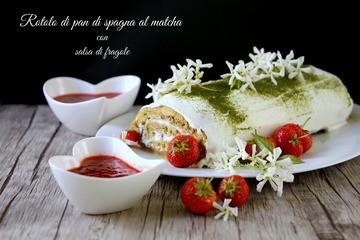 Rezept Rotolo di pan di spagna al tè matcha - Matcha-Biskuitrolle