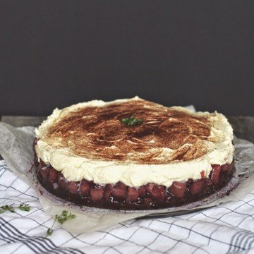 Rezept Rotwein-Birnen-Torte mit Thymian