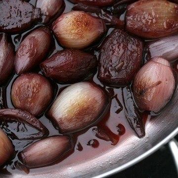 Rezept Rotwein-Schalotten