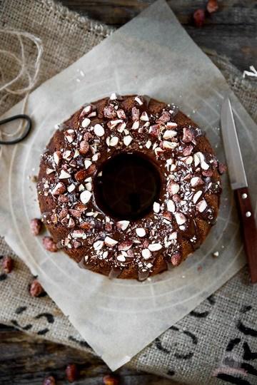 Rezept Rotweinkuchen mit gebrannten Mandeln