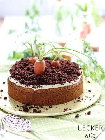 Rezept Rübli-Torte mit Frischkäsetopping