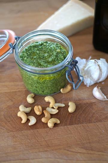 Rezept Rucola-Cashew Pesto