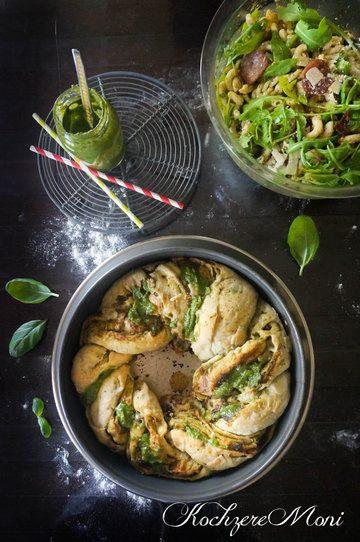 Rezept Rucola Pasta Salat + Pestobrotkranz