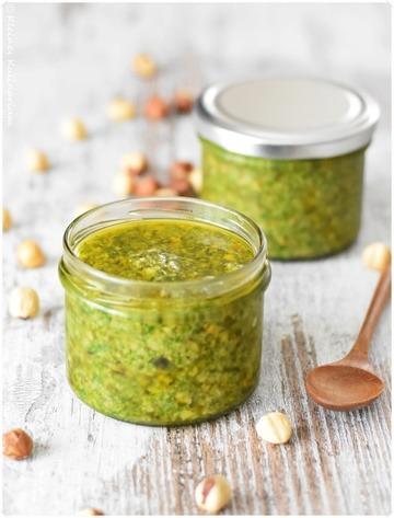 Rezept Rucola Pesto mit Haselnüssen