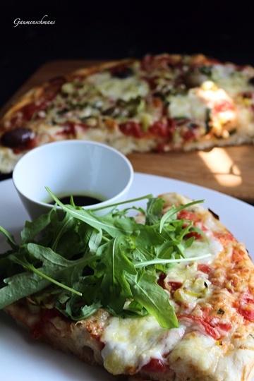 Rezept Rucola-Pizza