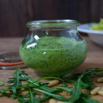 Rezept Rucola-Ziegenkäse-Pesto