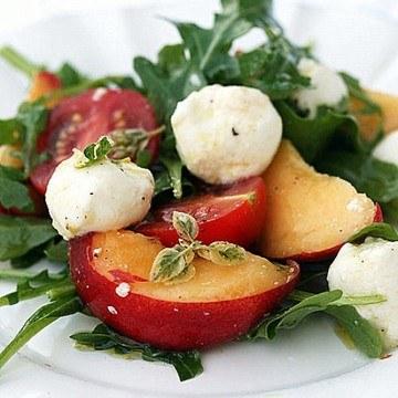 Rezept Rucolasalat mit Pfirsichen
