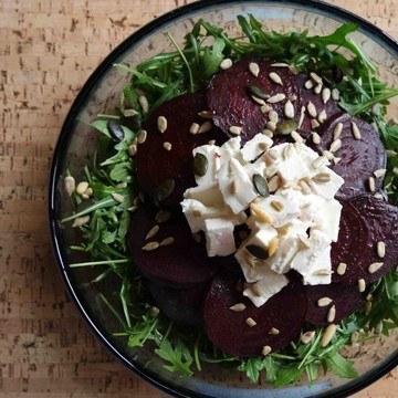 Rezept Rucolasalat mit Rote Bete und griechischem Feta