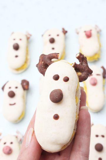 Rezept Rudolf-Macarons mit Lemon Curd zur Weihnachtszeit