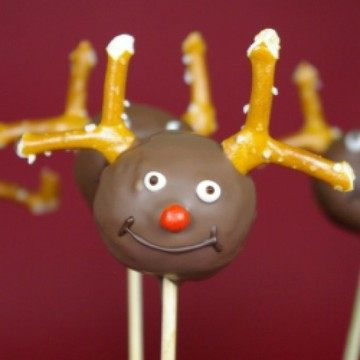 Rezept Rudolph the Red-Nosed Reindeer Cake Pops