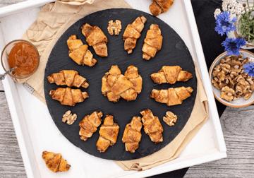 Rezept Rugelach mit Aprikosen-Nuss-Füllung