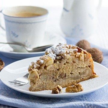 Rezept Rührkuchen mit Äpfeln und Walnüssen