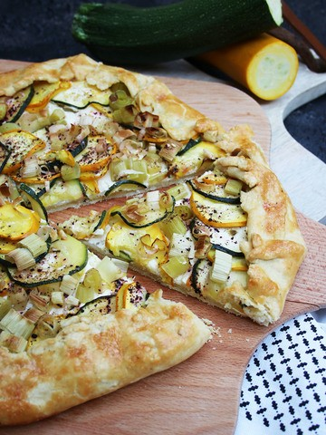 Rezept Rustikale Zucchini-Lauch-Tarte