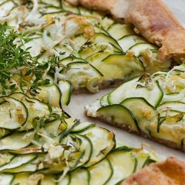 Rezept Rustikale Zucchinitarte mit Ricottacreme