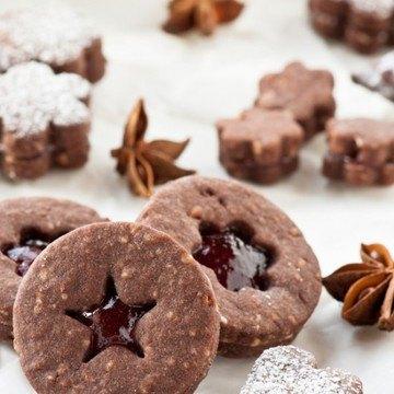 Rezept Sablés au cacao et à la gelée de vin chaud