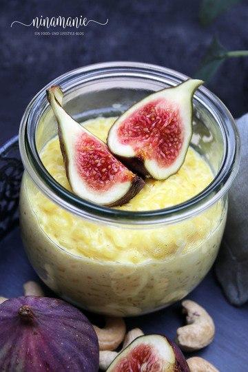 Rezept Safran-Milchreis mit Feigen