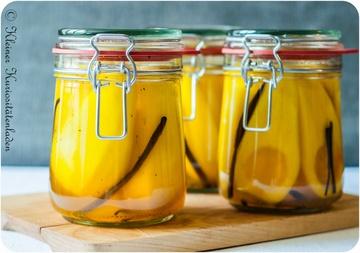 Rezept Safran-Vanille-Birnen