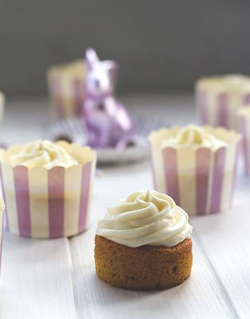 Rezept Saftige Carrot (Cake) Cupcakes mit Cream Cheese Frosting