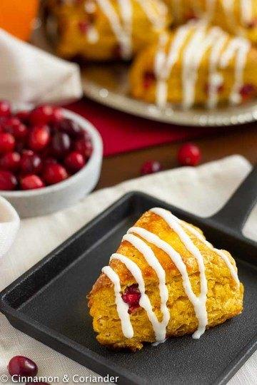 Rezept Saftige Kürbis Scones mit Cranberries