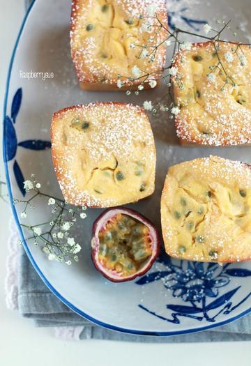 Rezept Saftige Zitronen-Buttermilch-Küchlein mit Maracuja-Swirl