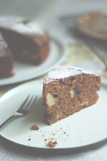 Rezept Saftiger Apfel-Schokoladenkuchen mit Quittenlikör
