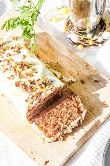 Rezept Saftiger Carrot Cake mit Haselnüssen